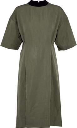 Marni Gathered Linen-blend Poplin Dress