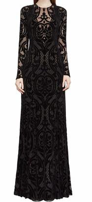 BCBGMAXAZRIA Azria Women's Selma Knit Long Sleeved Velvet Dress
