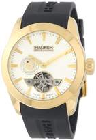 Haurex Italy Men's CY501USN Magister Auto Yellow Gold Ion-Plated Coated Stainless Steel Automatic Watch
