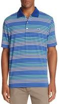 Vineyard Vines Hunter Stripe Regular Fit Performance Polo Shirt