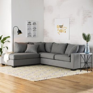 """Mercury Row Loukianos 93"""" Left Hand Facing Sectional Upholstery Color: Charcoal"""