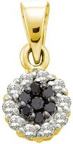 DazzlingRock Collection 0.25 Carat (ctw) 14k Yellow Gold & White Diamond Ladies Cluster Flower Pendant