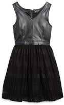 Ella Moss Girls' Faux Leather Bodice Dress - Sizes 7-14
