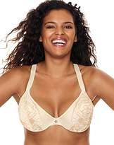 Just My Size Women's Lightweight Curve Enhancing Embellished Plunge Bra
