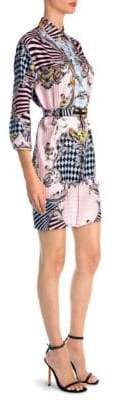 Versace Printed Silk Shirtdress