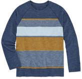 Arizona Long Sleeve Textured Raglan Tee Boys 8-20 & Husky
