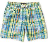 Ralph Lauren Big Boys 8-20 Traveler Plaid Swim Trunks
