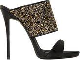 Giuseppe Zanotti Design 120mm Glittered Patent Leather Mules