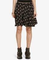 Denim & Supply Ralph Lauren Floral-Print A-Line Miniskirt