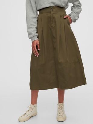 Gap High Rise Khaki Midi Skirt