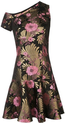 Josie Natori Jacquard Mini Dress