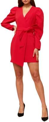 Adelyn Rae Puff Sleeve Wrap Dress