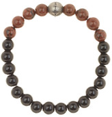 Steve Madden Jasper & Onyx Beaded Stretch Bracelet