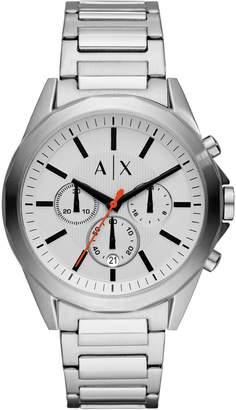 Armani Exchange Chronograph White Stainless Steel Bracelet Drexler Watch