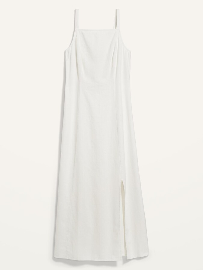 Thumbnail for your product : Old Navy Sleeveless Linen-Blend Maxi Shift Dress for Women