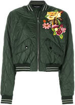 Dolce & Gabbana flower applique bomber jacket