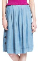 Plenty by Tracy Reese Pleated A-Line Skirt