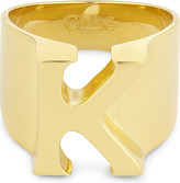 Chloé Alphabet K ring