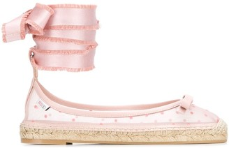 RED Valentino RED(V) point d'Esprit sheer espadrilles