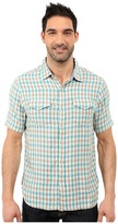 True Grit Beach Checks Short Sleeve Shirt Two-Pocket Combed Cotton Double Light