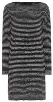 ATM Anthony Thomas Melillo Broken Stripe cotton-blend dress