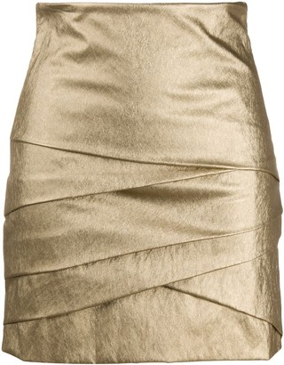 Philosophy di Lorenzo Serafini Layered Style Metallic Skirt