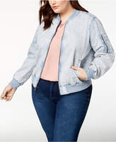 Levi's Plus Size Acid-Wash Bomber Jacket