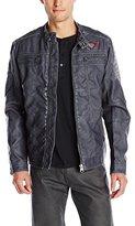 Buffalo David Bitton Men's Jarley Vegan Leather Jacket