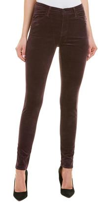 J Brand Maria Aubergine High-Rise Velvet Skinny Leg