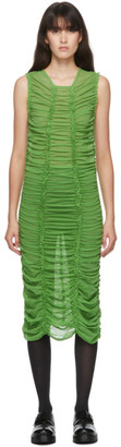 Molly Goddard SSENSE Exclusive Green Mesh Elisa Dress