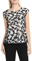 Vince Camuto Sequin Embroidered Lace Shell