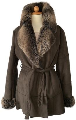 Balmain Brown Faux fur Jacket for Women