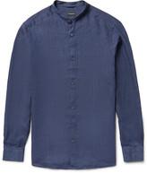 Ermenegildo Zegna Slim-Fit Grandad-Collar Linen Shirt