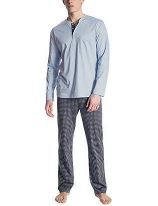 Calida Men's Relax Selected Pyjama Set, Placid Blue 502, Small