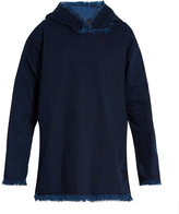 Marques Almeida MARQUES'ALMEIDA Hooded frayed-edge denim top