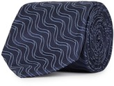 Pal Zileri Navy Printed Silk Tie