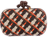 Bottega Veneta Mixed-Media Knot Clutch
