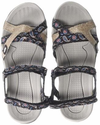 Muk Luks Women's Ophelia Sport Shoe-Navy Sandal 7 M US