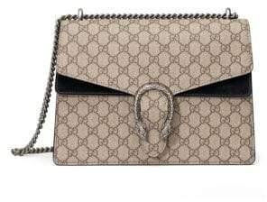 Gucci Dionysus GG Supreme Medium Canvas Shoulder Bag