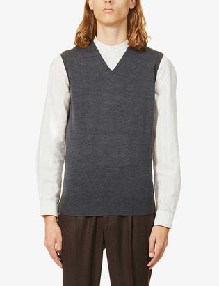 John Smedley Hadfield sleeveless wool vest
