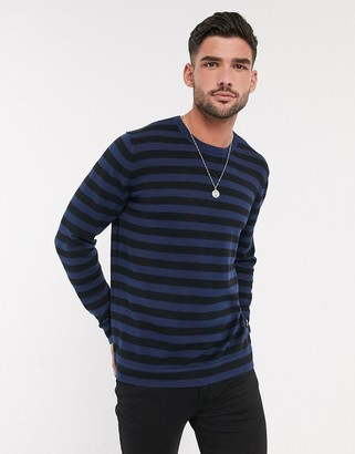 ONLY & SONS 100% cotton knitted stripe sweater