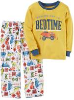 Carter's Baby Boy Graphic Top & Patterned Microfleece Bottoms Pajama Set