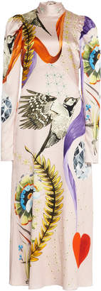 Temperley London Clementina Printed Silk Dress