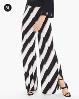 Chico's Diagonal Print Wide-Leg Pants
