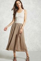 Forever 21 Crinkled Satin Palazzo Pants