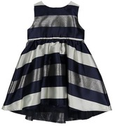 Beetle & Thread Striped Hi-Lo Dress (Baby Girls)