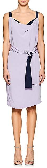 Narciso Rodriguez Women's Silk Crepe Wrap Dress - Lilac, Navy
