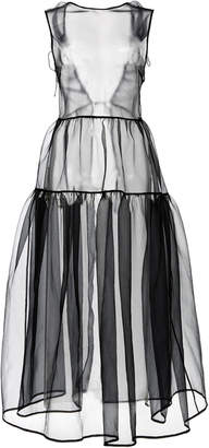 Cecilie Bahnsen Kamilla Overlay Dress With Fitted Bodice