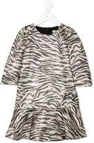 Kenzo tiger stripes dress - kids - Polyamide/Polyester/Viscose/Metallic Fibre - 2 yrs