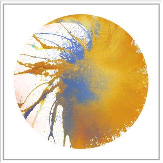 Jonathan Bass Studio Spin Art 25, Decorative Framed Hand Embellished Canvas